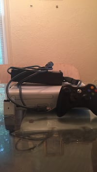 white Xbox 360 console with AC adapter and black controller set Norfolk, 23503