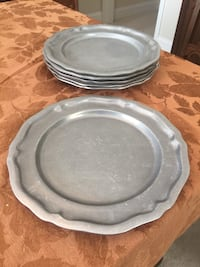 Carson pewter tableware (8 pieces)