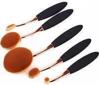 2 sets of Oval make up brushes 5Pcs