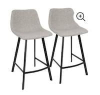 Outlaw Industrial Counter Stool by LumiSource - Set of 2 Brampton, L6V 4K9