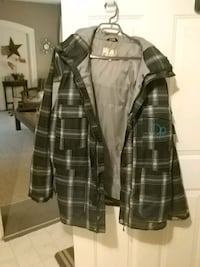 black and gray plaid button-up jacket London, N5W 3P3