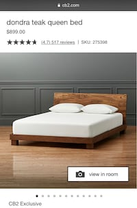 CB2 Dondra Queen Wood Bed Frame Washington, 20011