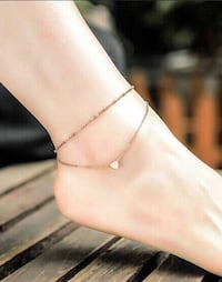 Double chain Heart anklet (2 Pics) Vaughan, L6A 3P3