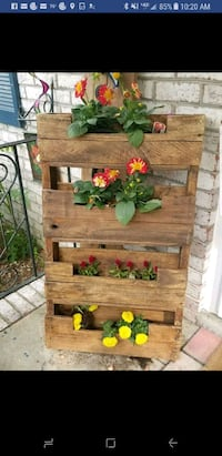Hand Made Wood Flower Plant Stand Portsmouth