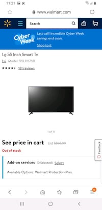 "NEW OPEN BOX LG 55"" LH5750 SMART TV NO BOX ONLY $390!!!  Toronto, M1P"