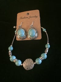 silver and blue beaded necklace Lincoln, 68516