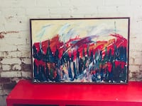 red and black abstract painting Ontario, K8V 1Z5