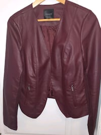 Like new! Faux Leather Jacket - Large Brampton, L6P