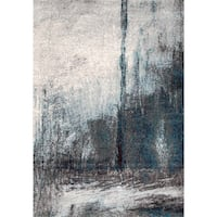 "nuLOOM ECCR21A Noreen Abstract Rug, 6' 7"" x 9', Grey Richmond Hill, L4B 0G9"