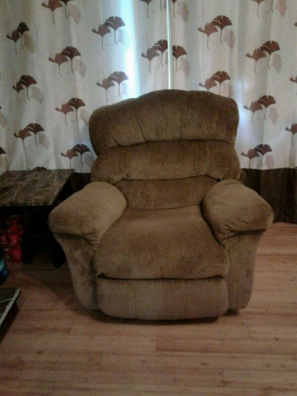 Fantastic Used Brown Suede Recliner Sofa Chair For Sale In Tobyhanna Cjindustries Chair Design For Home Cjindustriesco
