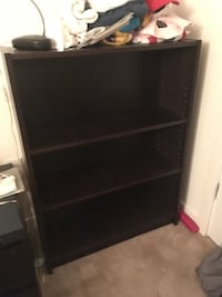 black wooden 3-layer shelf Chevy Chase, 20815