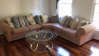 brown and white living room set Sterling, 20165