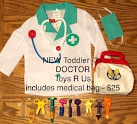 NEW Doctor, includes medical bag - toddler 3+ - $25 null, T7X