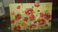 red and yellow flower painting Sparrow Bush, 12780