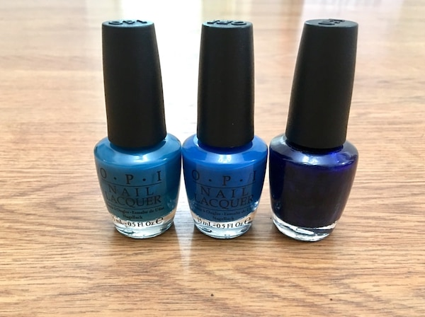 Used Nail polish / New / OPI Blue Colors for sale in Los Angeles - letgo