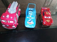 three assorted-color car toys Independence, 64050