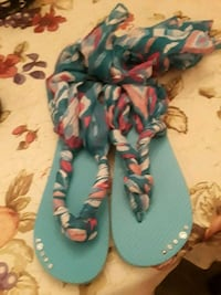 pair of blue-and-pink sandals Lawrence, 01841