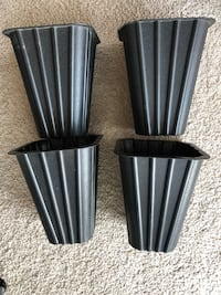 two black-and-gray striped vases Alexandria, 22303