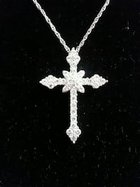 White Sapphire Cross on 925 Sterling Silver Chain  Chattanooga, 37405