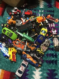 assorted plastic toy car lot