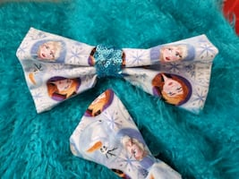 Frozen Theme Bow Tie and Bow