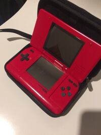 red Nintendo DS with game cartridge Barrie, L4N 1N1