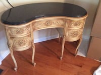 French Provincial Desk with Black Marble Top Barnegat, 08005