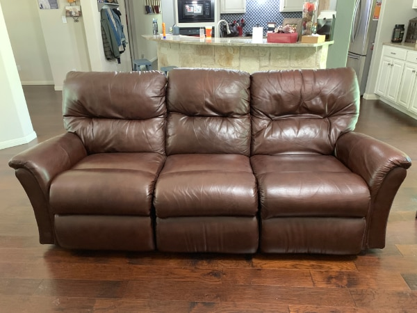 Super La Z Boy Leather Recliners And Matching Reclining Sofa Machost Co Dining Chair Design Ideas Machostcouk