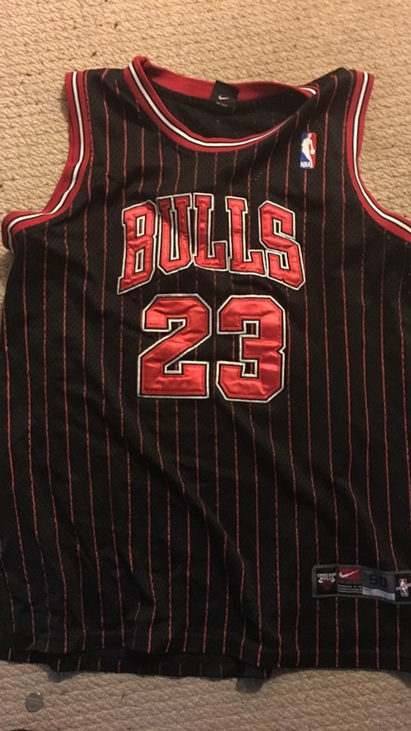 682419e499f Used black and red Chicago Bulls 23 jersey for sale in Woodstock - letgo