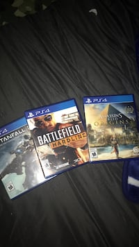 three Sony PS4 game cases London, N6E
