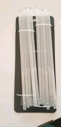 10 plastic reusable Straw and 10 Straw cleaning brushes Roselle, 60172