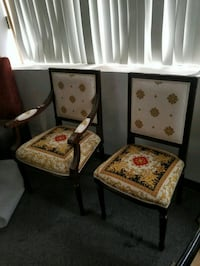 Authentic Versace fabric side chair +arm chair set