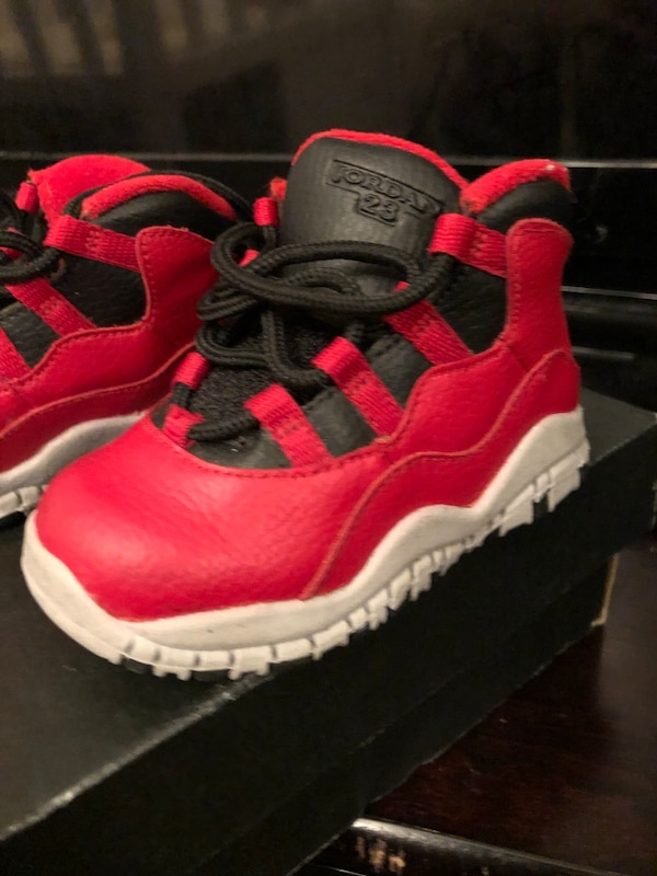 reputable site 241b1 ef172 Jordan retro 10 toddler size 6C mint condition black and red