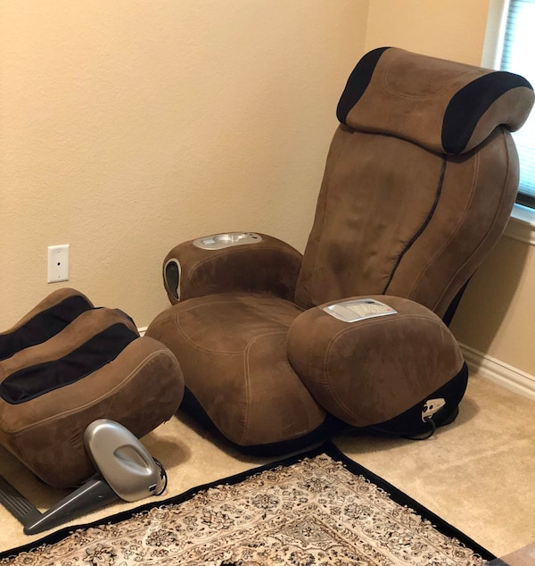 sharper image massage chair Used SHARPER IMAGE IJOY TURBO 2 MASSAGE CHAIR & IJOY OTTOMAN 3.5  sharper image massage chair