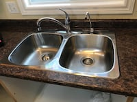 gray stainless steel sink with faucet TORONTO
