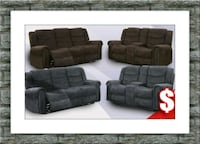 Grey or chocolate recliner set with free delivery McLean