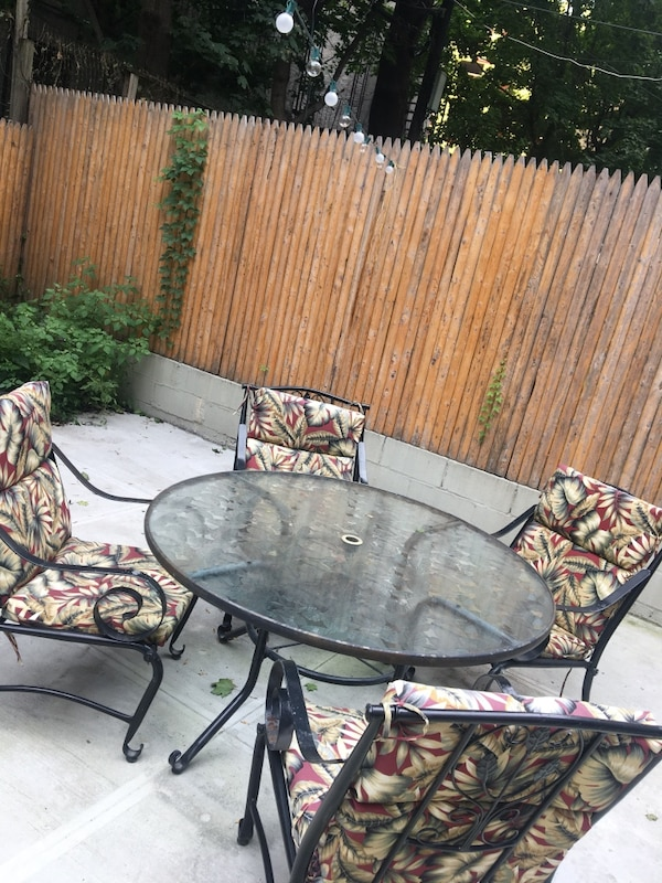 Used Glass Top Patio Table Set For Sale In New York Letgo