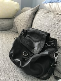 Black leather Frye handbag