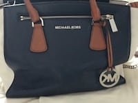 Navy n beige MK large purse