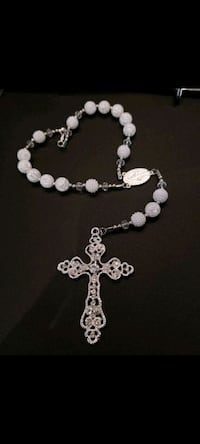 Pearls Car Rosary Made By Me