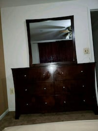 black wooden dresser with mirror Manassas, 20110