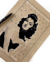 Disegno A4 Ava Gardner, stampa  Spinea, 30038