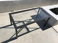 Glass outdoor coffee table
