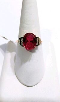 Rose Gold/Sterling Silver Ruby Ring Beverly Hills, 34465