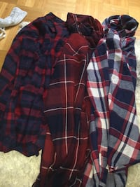 three assorted-color plaid shirts Vaughan, L4H 3B3