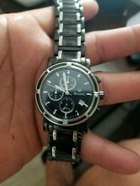 round silver chronograph watch with link bracelet Santa Maria, 93454