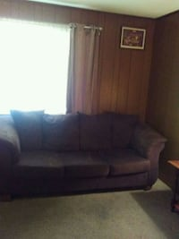 Brown Micro Fiber three seat couch Archdale, 27263