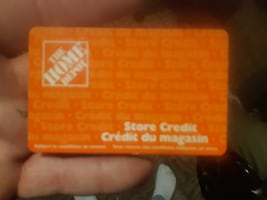 Home depot in store credit