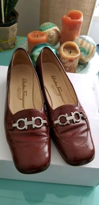 Rust-coloured Vintage Salvatore Ferragamo shoes, sz 8.5 Vancouver, V6B