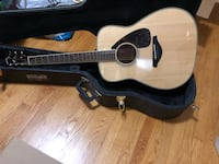Brown and beige Yamaha guitar with case Ottawa, K2C